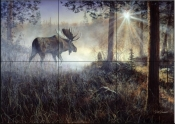 A Walk In The Mist    - Tile Mural