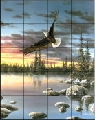 Eagle In Flight    - Tile Mural