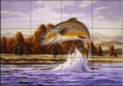 Brown Trout    - Tile Mural
