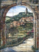 Golden Gate To Umbria    - Tile Mural