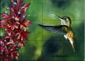Hummingbird 1    - Tile Mural