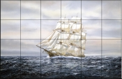 Clipper Ship    - Tile Mural