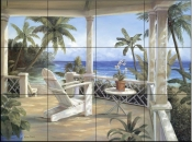 Tropical Porch I    - Tile Mural