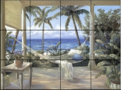 Tropical Porch II    - Tile Mural