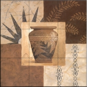Swahili Vase I    - Tile Mural