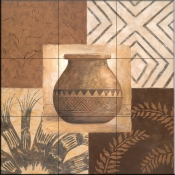 Swahili Vase II    - Tile Mural