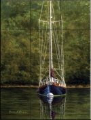 Essex Sailboat    - Tile Mural