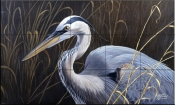 Great Blue Heron    - Tile Mural