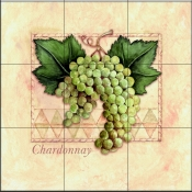 Green Grapes    - Tile Mural
