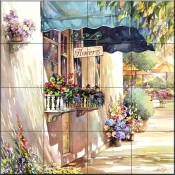 Flower Shop 2    - Tile Mural