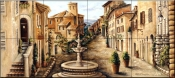 Village Fountain    - Tile Mural
