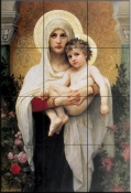 Madonna of the Roses    - Tile Mural