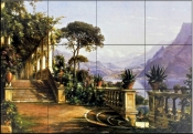 Lodge on Lake Como    - Tile Mural