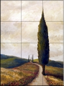 Afternoon in Tuscany I    - Tile Mural