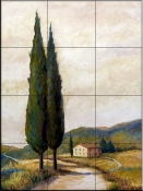 Afternoon in Tuscany II    - Tile Mural