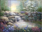 Hidden Waterfall I    - Tile Mural