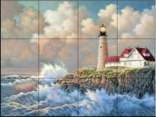 Harbor Light   - Tile Mural