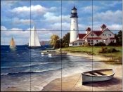 Sailing the Safe Harbor   - Tile Mural