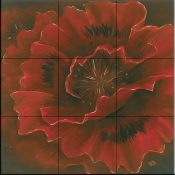 Red Poppy II   - Tile Mural