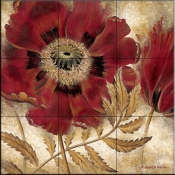 RH-Red Poppy   - Tile Mural