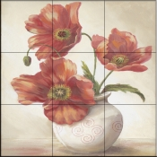 Amandas Poppies   - Tile Mural