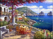 Capri Morning    - Tile Mural