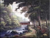 The Covered Bridge    - Tile Mural