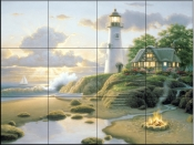 Cottage By The Sea    - Tile Mural