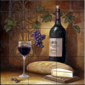 Wine And Cheese A    - Tile Mural