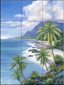 Tropical Paradise 2    - Tile Mural