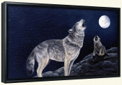 Wolves Howling   -Canvas Art Print