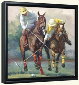 Polo Race for the Goal   -Canvas Art Print