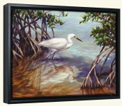 Heron Walking on Water   -Canvas Art Print