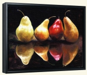 Pear Reflection   -Canvas Art Print