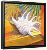 White Conch   -Canvas Art Print