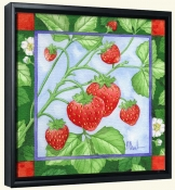 Strawberries  3 -Canvas Art Print
