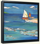 Portofino Distant Sails   -Canvas Art Print