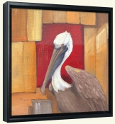 Pelican at the dock   -Canvas Art Print