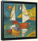 Portofino Boats   -Canvas Art Print