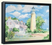 Key West Lighthouse   -Canvas Art Print