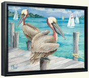 Pelican Sails   -Canvas Art Print