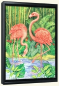 Bamboo Flamingo   -Canvas Art Print