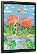 Bamboo Flamingo with Sky   -Canvas Art Print