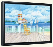 Beach Signs Yacht Club   -Canvas Art Print
