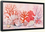 Coral Still Life Border   -Canvas Art Print