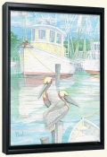 At Dock Miss Lucy   -Canvas Art Print