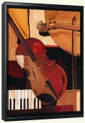Abstract Violin   -Canvas Art Print