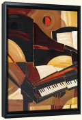 Abstract Piano   -Canvas Art Print