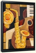 Abstract Sax   -Canvas Art Print
