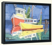 Fishing Boats at Dock   -Canvas Art Print